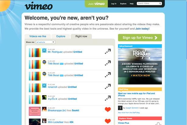 Vimeo: looking to expand globally