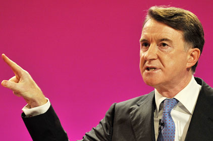 Peter Mandelson: weekly televised briefings