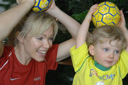 Supporting soccer: Nell MacAndrew