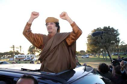 Gaddafi: planned a PR campaign in Britain