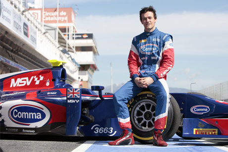 Jolyon Palmer: GP2 race driver partnered with Comma Oil