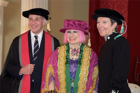 Zandra Rhodes: University for the Creative Arts alumni