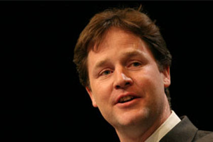 Calling for AV: Nick Clegg