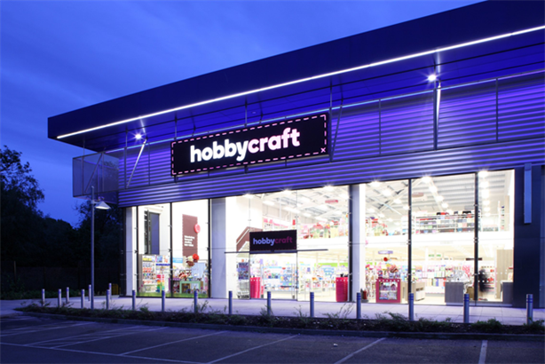 Hobbycraft: in the process of rebranding all 62 stores