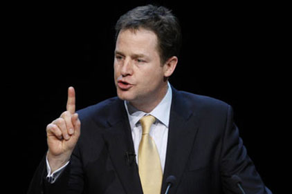 Nick Clegg: Eurozone row
