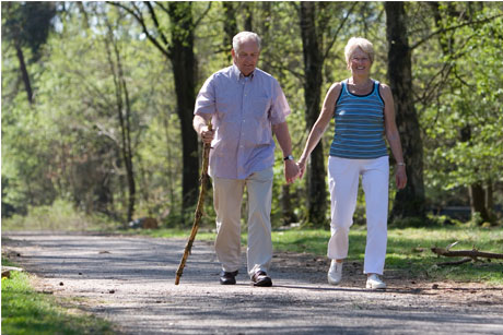 Older people: Walking could help prevent diabetes (Credit: Thinkstock)