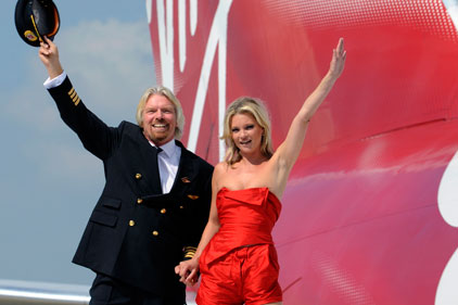 Richard Branson's airline: Virgin Atlantic