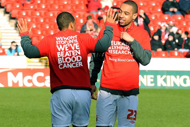 Support: footballers get behind the campaign