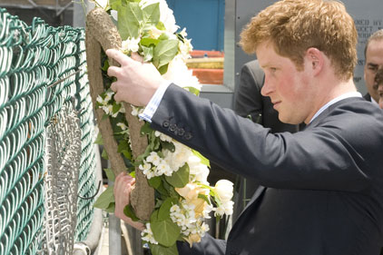 Prince Harry: on trip to NYC (Picture: Rex)
