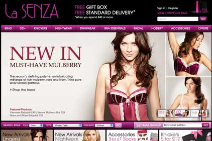 Looking to be online innovator: La Senza