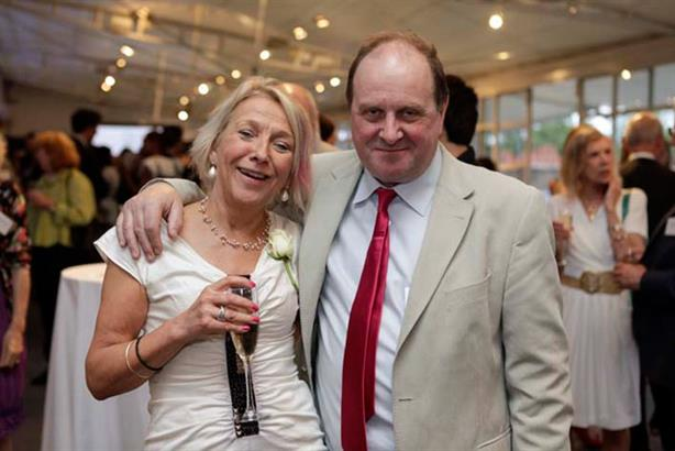 The 'girl who never says no': Dotti Irving with James Naughtie