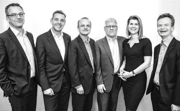 Merger: (l-r) Blue Rubicon founder Fraser Hardie, Martin LeJeune, Gordon Tempest Hay, Nick DeLuca, Rebecca Reilly and Graham McMillan