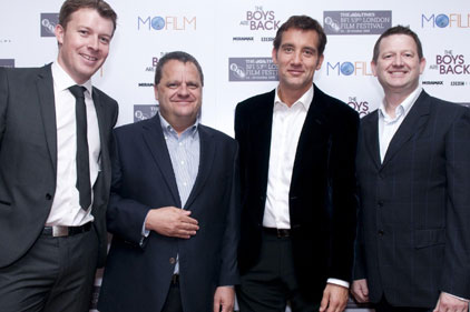 Mofilm founders: at film premiere with Clive Owen