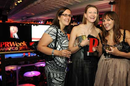 Revellers: PRWeek Awards 2010