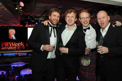 After hours: party goers at the PRWeek Awards 2010