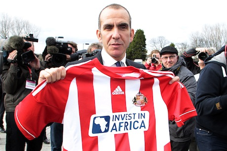 Kicking off: Paolo di Canio arrives at Sunderland FC (credit: Graham Stuart/AFP/Getty Images)