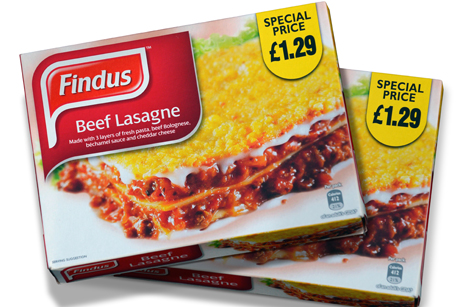 Withdrawn: Findus lasagnes were found to contain horsemeat
