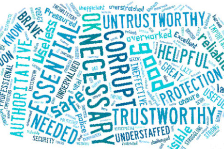 Mixed bag: OnePoll's word cloud reveals mixed public opinions on the police