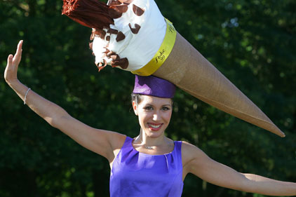 Ice cream dream: Frederick's stunt at Royal Ascot