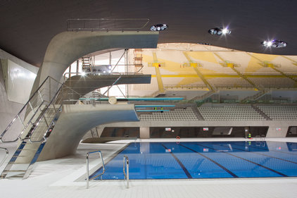 Spaces: The Olympics Aquatics Centre was one of the venues left with empty seats over the weekend. Credit: LOCOG