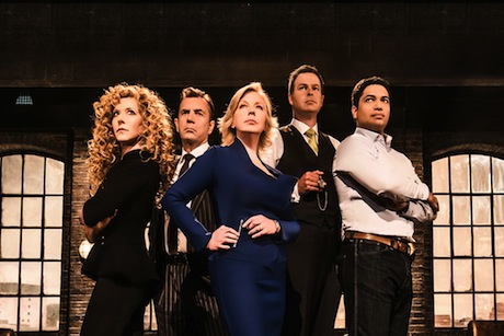 Dragon's Den featuring Deborah Meaden (centre) and Piers Linney (right)