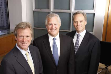 From left: president Andy Polansky, chairman Jack Leslie, CEO Harris Diamond