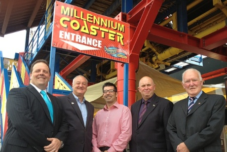 Ingoldmells Fantasy Island attraction: a local business that has benefited from the project