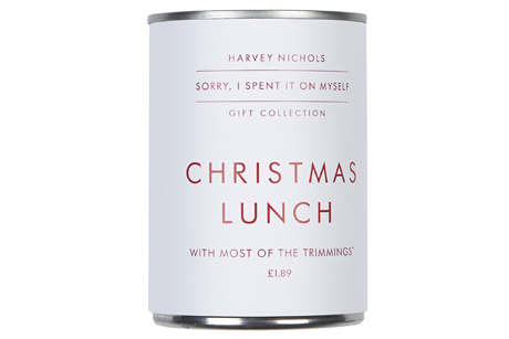 Ironic gifts: The Harvey Nichols Christmas Lunch in a Tin