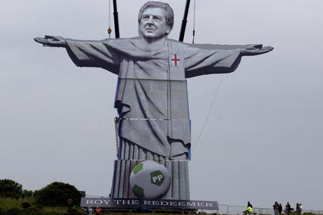 Paddy Power stunt: Roy the Redeemer on the White Cliffs of Dover