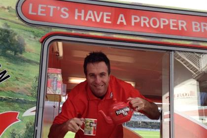 Yorkshire Tea: former cricketer Michael Vaughan launched its current sponsorship of the England cricket team