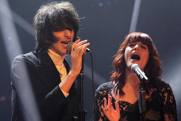 Live act: Florence Welch and The Horrors at the NME Awards (Press Association)