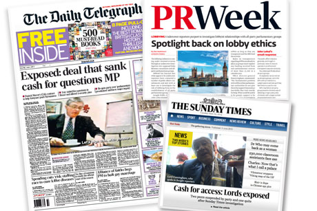 Exposure: The media have run several stings on parliamentarians