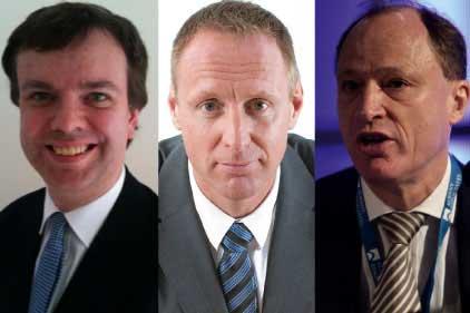 Caught out: Tim Collins, David Wilson and David Richmond
