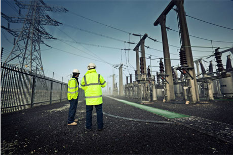 Power base: The National Grid network carries the UK's energy