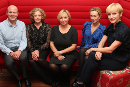 Link-up: Talk PR's Ryan Woor, Beam's Jane Leah (left) and colleagues