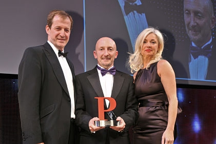 Award: Alastair Campbell, Ian Holloway and Weber Shandwick's Fiona Noble