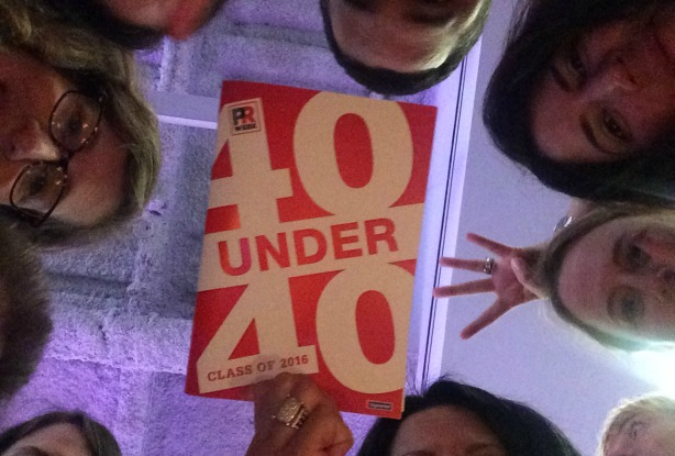 Etrog Cohen, Rodriguez, and Burgess were honored at the 40 Under 40 dinner following the conference.