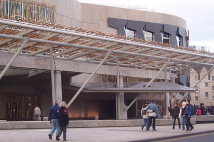 Under fire: Holyrood, home of Scottish parliament
