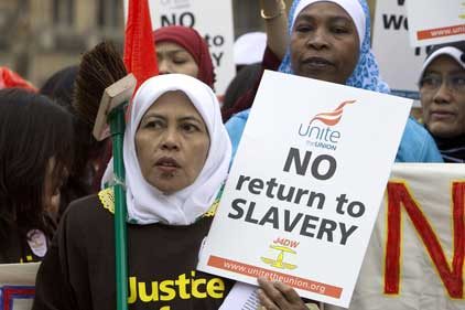 Visa proposals: Domestic workers protest