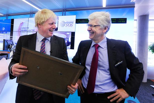Launch: Boris Johnson with International SOS Chairman and CEO Arnaud Vaissié