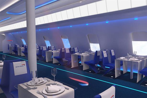 British Airways: airplane-themed pop-up restaurant