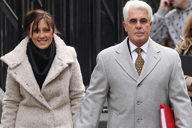Max Clifford: attends the Leveson Inquiry with wife Jo