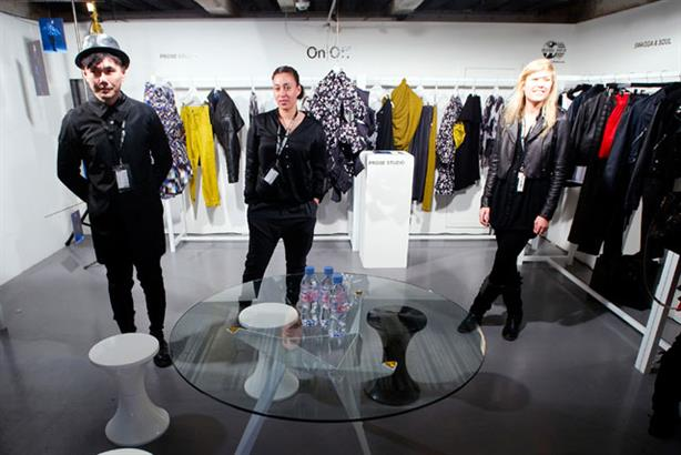 Double act: Evian has sponsored On|Off during Fashion Week