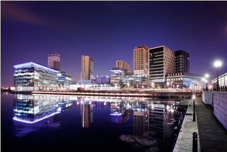 Still Trusted: The BBC, now partly base at MediaCityUK in Salford (Credit: BBC)