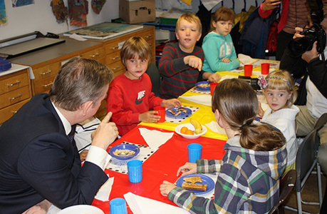 School meals: Education Secretary Michael Gove visits Lauriston School in Hackney