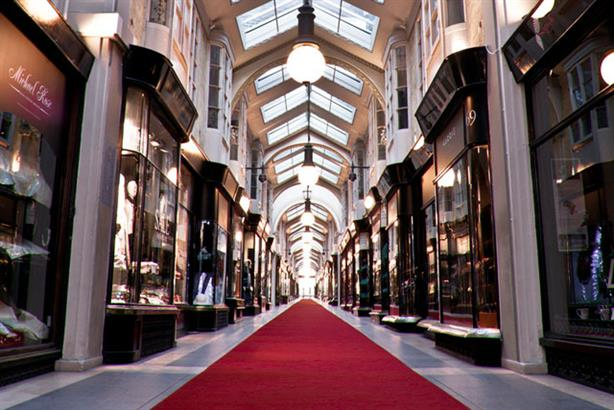 Burlington Arcade: wants to target quintessentially British publications