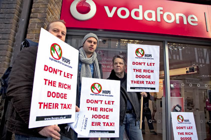 Vodafone targeted by activists over tax avoidance