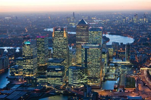 Seeking global firms: Canary Wharf
