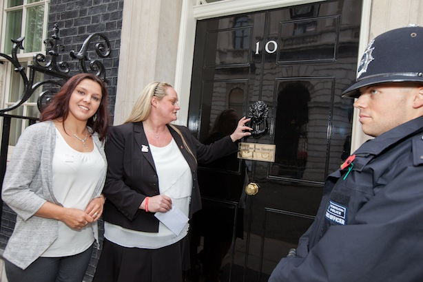 Action for Children campaign: victims of emotional child abuse delivered a letter to the Prime Minister in November