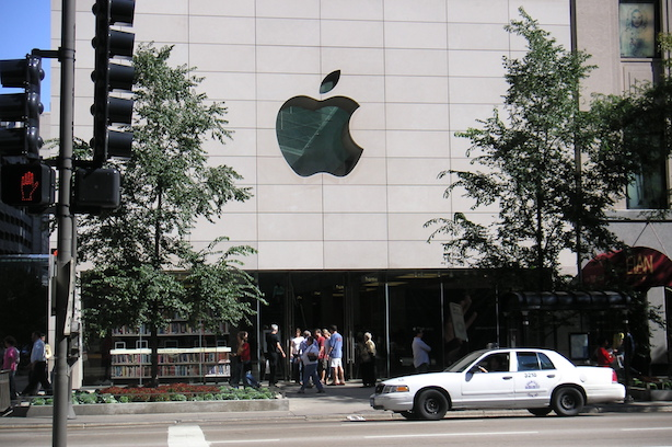 """An Apple retail location. (""""Apple store Michigan Ave"""" by Dweider at the English language Wikipedia. Licensed under CC BY-SA 3.0 via Wikimedia Commons)."""
